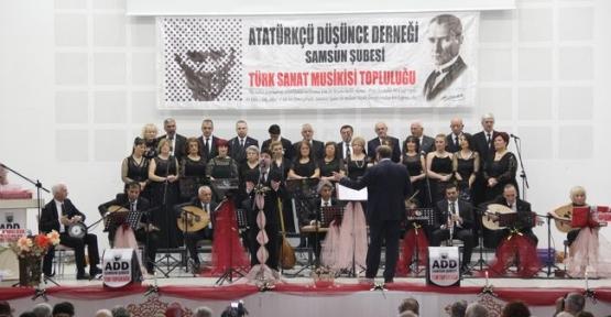 Havza Atatürkçü Düşünce Derneği Konser Düzenledi