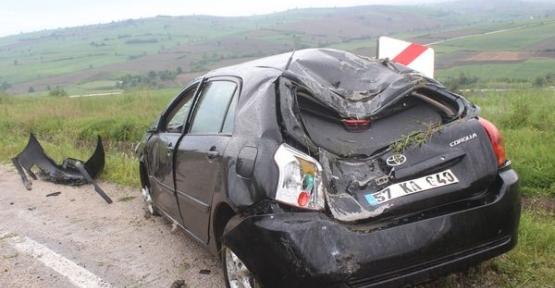 Havza'da 2 ayır kaza: 8 yaralı