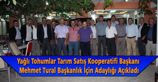 Mehmet Tural Başkanlık İçin Adaylığı Açıkladı