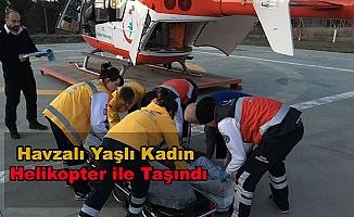 Kalp Hastası Kadına Helikopterli Müdahale