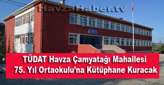 TÜDAT'tan Havza'da Bir Köye Kütüphane Yapılacak