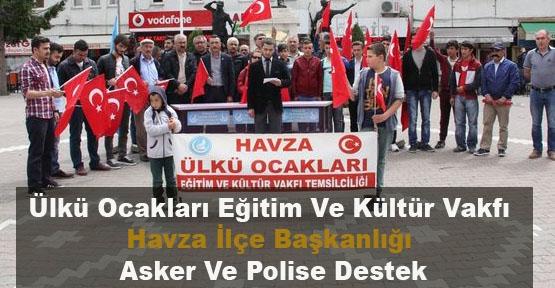 Ülkü Ocakları Eğitim Ve Kültür Vakfı Havza İlçe Başkanlığı Asker Ve Polise Destek