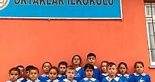 Ortaklar İlkokulu Ve Köy Sakinleri Teröre Karşı Tek Yürek - Video Haber