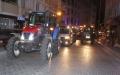 Traktörlerle Demokrasi Konvoyu Yapıldı