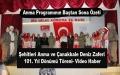 Şehitleri Anma Günü ve Çanakkale Deniz Zaferi'nin 101. yılı dolayısıyla Havza'da tören düzenledi